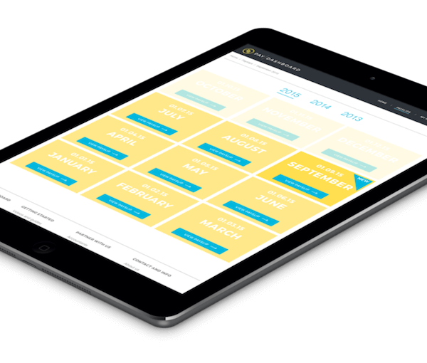 Online payslips on tablet
