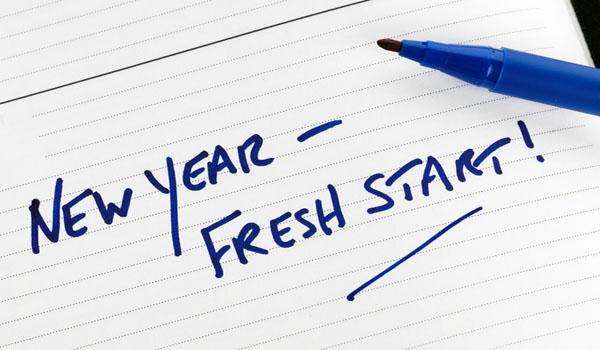 New financial year written text