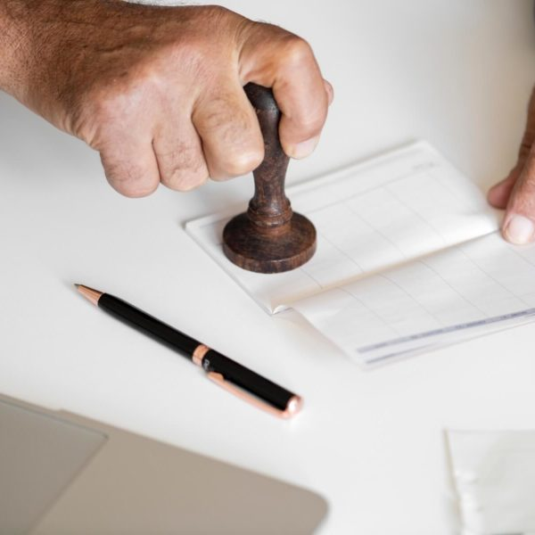 Stamping payroll forms